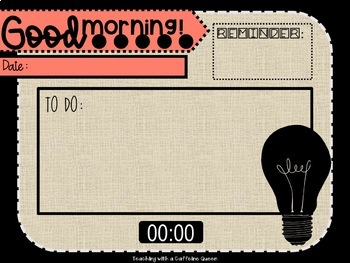 Industrial Morning Message Editable Slides with Timers  Light Bulb Theme