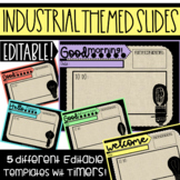 Industrial Morning Message Editable Slides with Timers - L