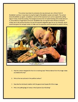 Industrial Political Cartoon Worksheet