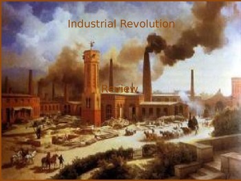 Industrial Revoluiton PowerPoint Review/Test Questions w/ animated answer pop up