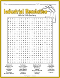 INDUSTRIAL REVOLUTION Word Search Puzzle Worksheet Activity