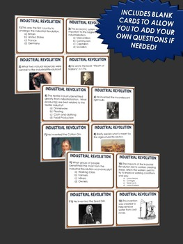 40 Industrial Revolution Task Cards with Answer Sheet! Great for Review!