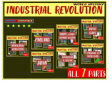Industrial Revolution (7 PPTs) visual & engaging (160 PPT slides and 5 handouts)