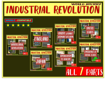 Industrial Revolution (7 PPTs) visual & engaging (160 PPT