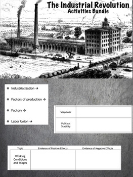 Industrial Revolution Activities - 15 Lessons in 1!