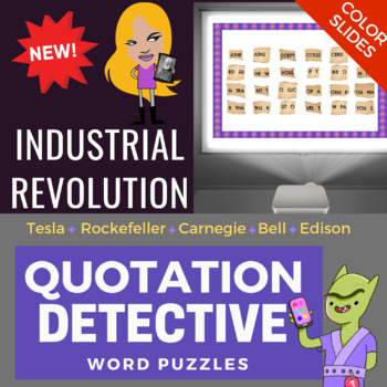 Industrial Revolution Activity - Quotes Word Scramble