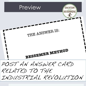 Industrial Revolution Whats the Question Bell Ringer and Bulletin Board Activity