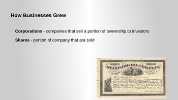 Industrial Revolution - Big Business PowerPoint