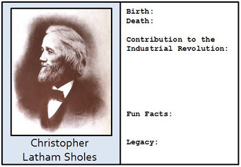 Google Drive - Industrial Revolution Biography Cards to Create