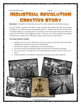 Industrial Revolution Child Labor - Photo Analysis Activity with Assignments