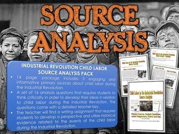 Industrial Revolution Child Labor - Resource Bundle (Source Analysis / Webquest)