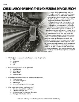 Results of the Industrial Revolution - Outline | Student Handouts