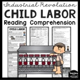 Industrial Revolution Child Labor Reading Comprehension Worksheet, DBQ
