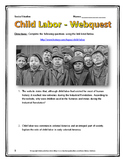 Industrial Revolution Child Labor in America - Webquest with Key