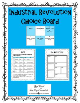 Industrial Revolution Choice Board