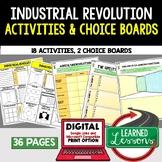 Industrial Revolution Activities, Choice Board, Print & Digital, Google