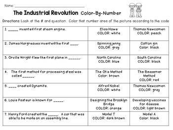 Industrial Revolution Color-By-Number