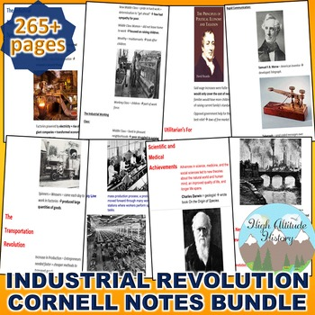 Industrial Revolution Cornell Notes *Bundle* (World History / U.S. History)