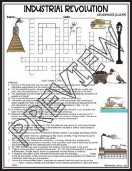 Industrial Revolution Crossword Puzzle and Word Search Find Activities