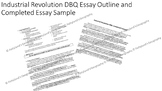 Industrial Revolution DBQ Essay Formula and Completed Essay Sample