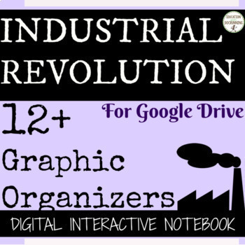 Industrial Revolution Digital Interactive Notebook for Google Drive