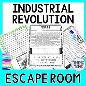 Industrial Revolution ESCAPE ROOM: Samuel Morse, Henry Ford - Print & Go!