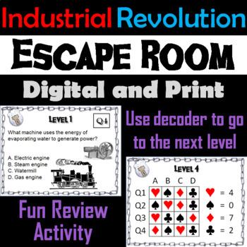 Industrial Revolution: Escape Room - Social Studies