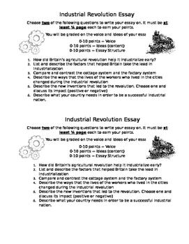Industrial Revolution Essay