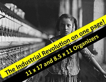 Industrial Revolution Graphic Organizer &  Key  (11 x 17 & 8.5 x 11 sizes)