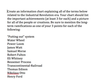 Industrial Revolution/Imperialism - Presentation, Notes, Videos, and HW