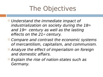 Industrial Revolution, Imperialism, and More
