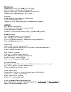 Industrial Revolution Informational Booklet Project