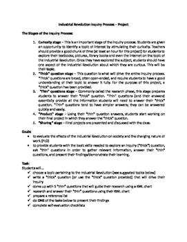 Industrial Revolution - Inquiry Process (Research Project)