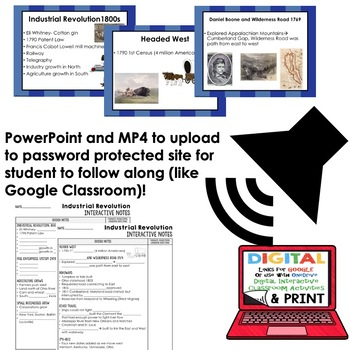 Industrial Revolution Interactive Guided Notes and PowerPoints American History