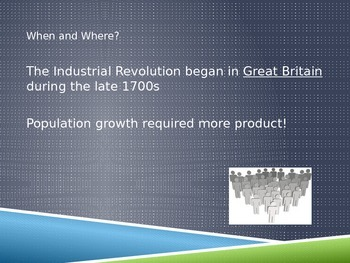 Industrial Revolution Introduction Powerpoint