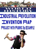World History Industrial Revolution Invention Rap Rubric and Example