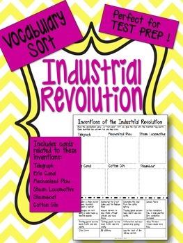 Industrial Revolution - Inventions Vocabulary Word Sort