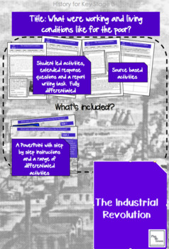 Industrial Revolution:L2 'What were working&living conditions like for the poor?
