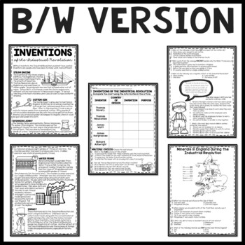 Industrial Revolution Machine Inventions Reading Comprehension and DBQ
