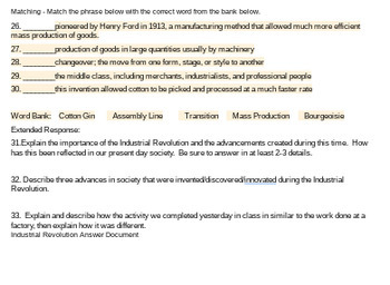 Industrial Revolution/Mass Production Test - Google Docs