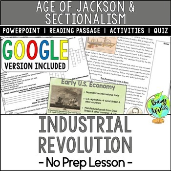 Industrial Revolution, New Technologies of the 1800s, Early US History