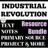 Industrial Revolution Interactive Notebook, Activities, projects resource bundle