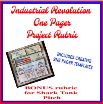 Industrial Revolution One Pager Rubric & Checklist