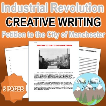 Industrial Revolution Petition to the City of Manchester Creative Writing