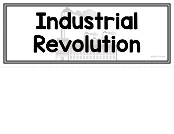 Industrial Revolution Poster and Interactive Notebook INB Set