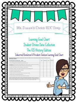 Industrial Revolution & President Jackson Era Learning Goal Chart