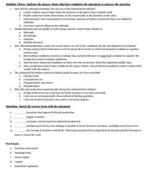 Industrial Revolution Quick Quiz - Microsoft Word