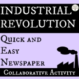Industrial Revolution Newspaper Activity or Collaborative Project