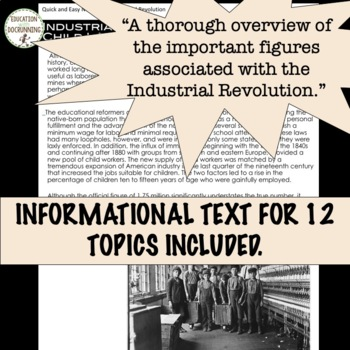 Industrial Revolution Project Newspaper Activity