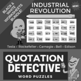 Industrial Revolution Worksheets / Activities - Reading Comprehension